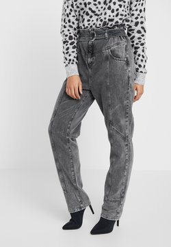 River Island Petite - PAPERBAG UTILITY  - Relaxed fit jeans - grey acid