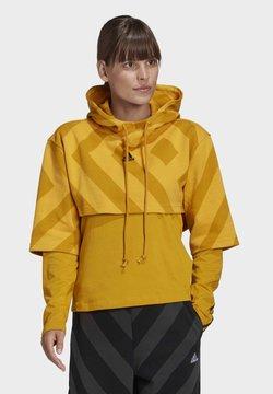 adidas Performance - PRIMEGREEN CROPPED HOODIE - Hoodie - gold
