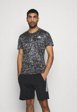 adidas Performance - TEE MEN - T-shirt imprimé - grey four