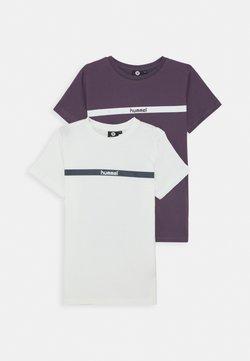 Hummel - HMLLAN 2 PACK - T-shirt imprimé - vintage violet/marshmallow