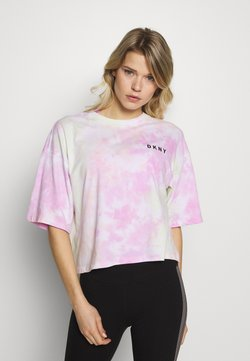 DKNY - MULTI TIE DYESHORT SLEEVE CREW NECK TEE - Printtipaita - multi-coloured