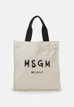 MSGM - SHOPPING PAINT BRUSHED LOGO - Tote bag - beige