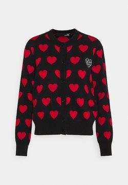 Love Moschino - Cardigan - nero/red