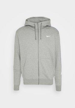 Nike Sportswear - REPEAT HOODIE - Collegetakki - dark grey heather/white