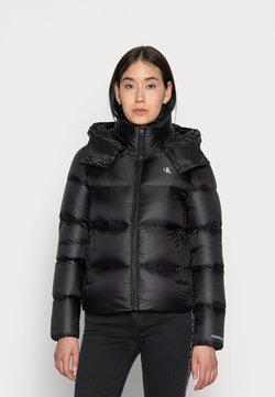 Calvin Klein Jeans - SHINY SHORT PUFFER JACKET - Talvitakki - black