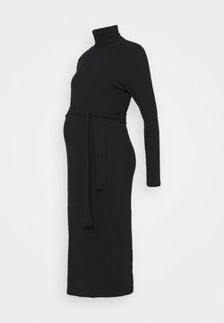 New Look Maternity - ROLL BELT MIDI - Jerseyjurk - black