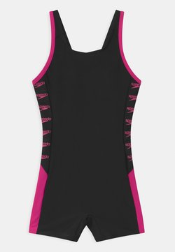 Speedo - BOOM LOGO SPLICE  - Costume da bagno - black/electric pink
