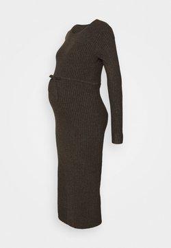 Pieces Maternity - PCMSUNA MIDI DRESS - Robe pull - mole/melange