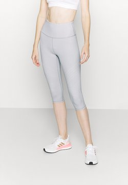 Cotton On Body - STRIPE CAPRI - Tights - light grey