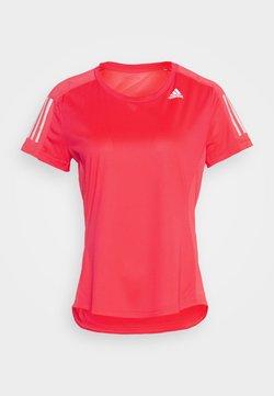adidas Performance - OWN THE RUN TEE - T-Shirt print - signal pink