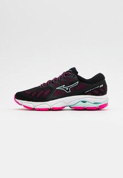 Mizuno - WAVE ULTIMA 11 - Zapatillas de running neutras - black/fairy aqua/pink glow