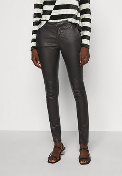 2nd Day - LEAH - Leather trousers - black