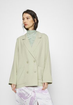 Monki - TWIGGY - Manteau court - green dusty light/salt and pepper
