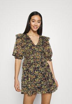 Topshop - SHIRRED WAIST DITSY MINI - Robe d'été - multi-coloured