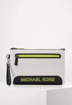Michael Kors - SPORT ZIP POUCH - Toiletti-/meikkilaukku - white/neon yellow