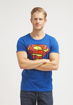 LOGOSHIRT - SUPERMAN - T-Shirt print - azure blue