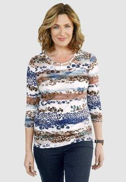 Paola - Bluse - marineblau braun
