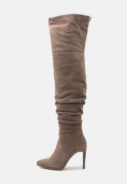 Even&Odd - LEATHER - High heeled boots - beige