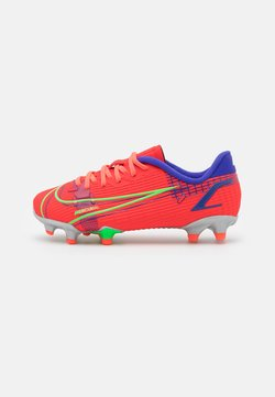 Nike Performance - JR MERCURIAL VAPOR 14 ACADEMY FG/MG UNISEX - Chaussures de foot à crampons - bright crimson/metallic silver