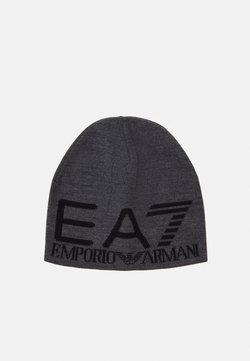 EA7 Emporio Armani - UNISEX - Bonnet - dark grey melange/black