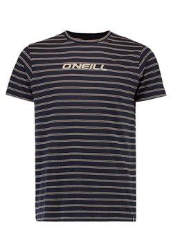 O'Neill - S/SLV COMBI STRIPE CREW NECK - T-Shirt print - ink blue