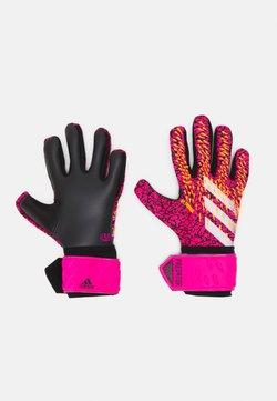 adidas Performance - Predator GL LGE FOOTBALL GOALKEEPER GLOVES - Guantes de portero - black/shock pink/core purple