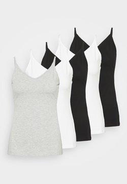 Anna Field - 5 PACK - Débardeur - black/white/mottled light grey