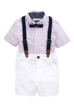 Next - LILAC SHIRT & SHORTS SET (3MTHS-7YRS) - Riem - purple