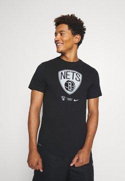 Nike Performance - NBA BROOKLYN NETS DRY LOGO TEE - Pelipaita - black