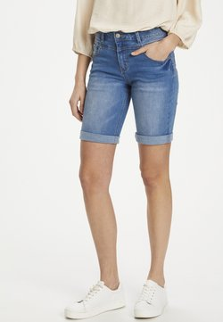 Cream - Jeansshort - light blue denim