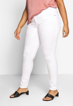 ONLY Carmakoma - CARAUGUSTA - Jeans Skinny Fit - white