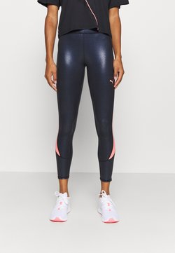 Puma - TRAIN PEARL HIGH WAIST - Tights - black/peach