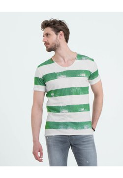Key Largo - T-Shirt print - offwhite-green