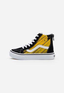 Vans - NIGHTMARE BEFORE CHRISTMAS SK8 - Sneakersy wysokie - black/yellow chrome