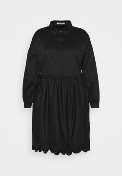 Glamorous Curve - SCALLOP HEM MINI DRESS - Freizeitkleid - black