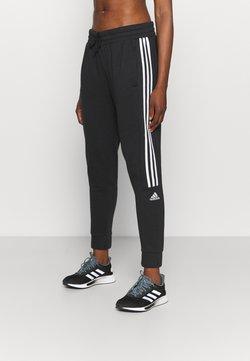 adidas Performance - COLORBLOCK ESSENTIALS - Spodnie treningowe - black/white