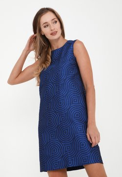 Madam-T - LANA - Freizeitkleid - kornblume blau