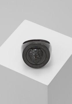 Guess - LION HEAD COIN  - Pierścionek - gunmetal