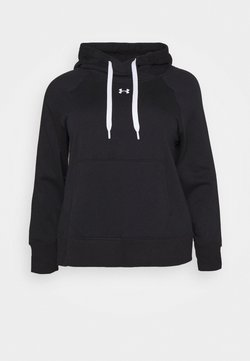 Under Armour - RIVAL HOODIE - Collegepaita - black