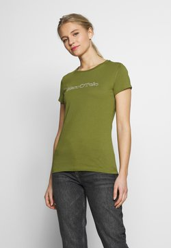 Marc O'Polo - SHORT SLEEVE ROUND NECK - T-Shirt print - seaweed green