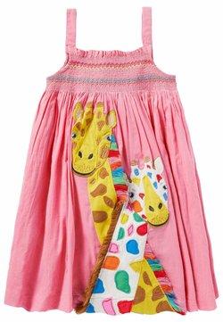 Boden - MIT FRÖHLICHER APPLIKATION - Freizeitkleid - pflaumenblütenrosa, giraffe