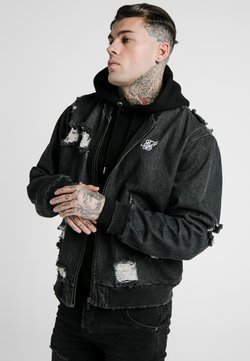 SIKSILK - DISTRESSED JACKET - Farkkutakki - washed black