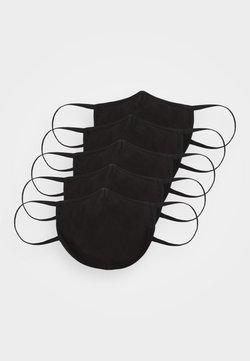 Zign - 5 PACK - Stoffen mondkapje - black