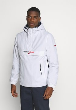Tommy Jeans - SOLID POPOVER JACKET UNISEX - Windbreaker - white