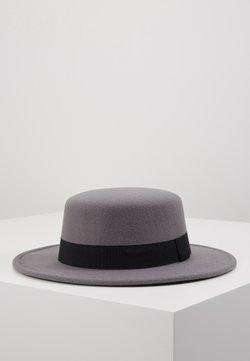 Uncommon Souls - BOATER HAT - Hoed - dark grey