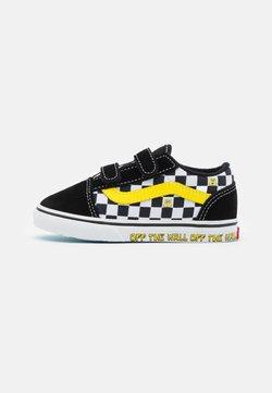 Vans - TD VANS X SPONGEBOB OLD SKOOL V UNISEX - Sneakersy niskie - black/white