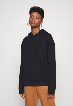 Even&Odd - BASIC OVERSIZED HOODIE WITH POCKET - Sweat à capuche - black