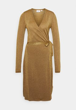 Saint Tropez - DUBBI DRESS - Neulemekko - bronze brown