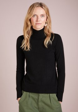 pure cashmere - TURTLENECK - Strickpullover - black