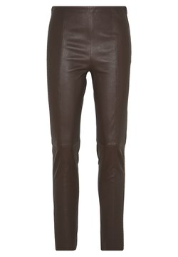 Steffen Schraut - BROOKLYN LUXURY ROCKSTAR PANTS - Leather trousers - coffee